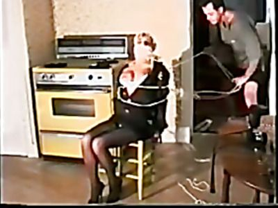 Sexy blonde gets tied up in amateur BDSM video