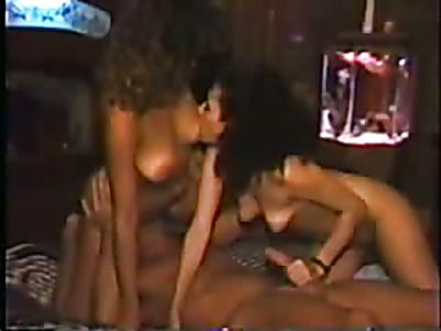 Horny white ladies fucking two lucky black studs.