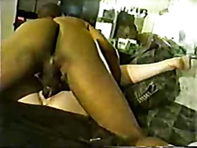 Big black dick fucks hot white pussy.