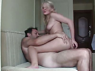 Beautiful blonde gets fucked by the boss.