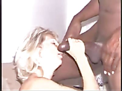 White chick gets fucked by a black dick.