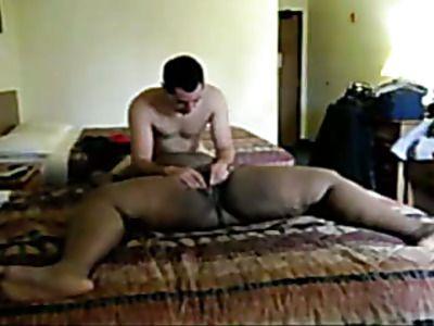 Fat ebony chick rides a big fat cock